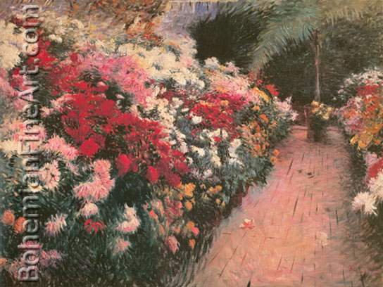 Denis Miller Bunker, Chrysanthemums Fine Art Reproduction Oil Painting