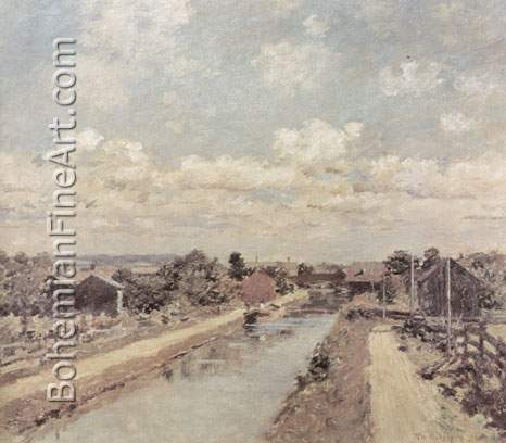 Theodore Robinson, Port Ben+ Delaware and Hudson Canal Fine Art Reproduction Oil Painting