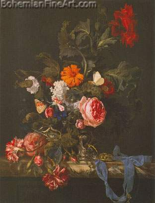 Willem van Aelst, Flower Piece Fine Art Reproduction Oil Painting