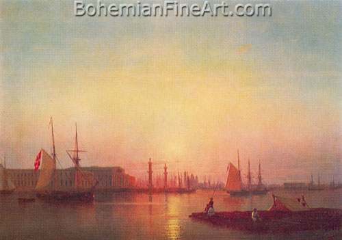 Ivan Konstantinovich Aivazovsky, The St Petersburg Stock Exchange Fine Art Reproduction Oil Painting