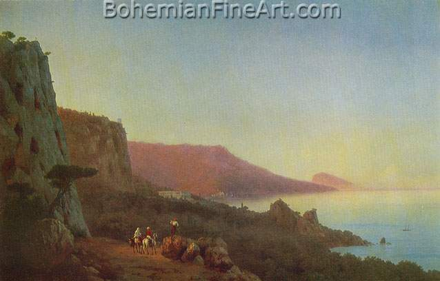 Ivan Konstantinovich Aivazovsky, Evening in the Crimea Fine Art Reproduction Oil Painting