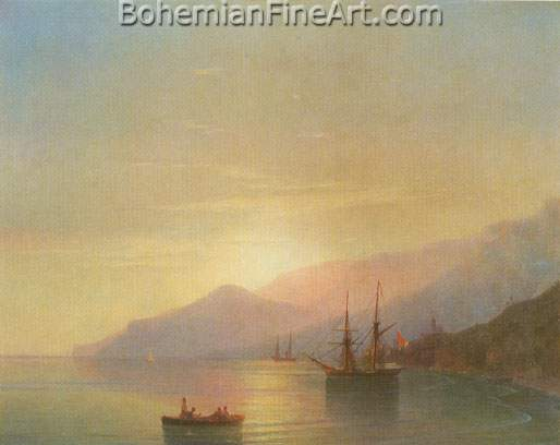 Ivan Konstantinovich Aivazovsky, Ships at Anchor Fine Art Reproduction Oil Painting