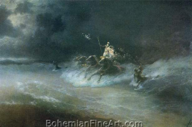 Ivan Konstantinovich Aivazovsky, Poseidon's Sea Journey Fine Art Reproduction Oil Painting