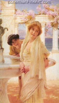 Sir Lawrence Alma-Tadema, A Difference of Opinion Fine Art Reproduction Oil Painting