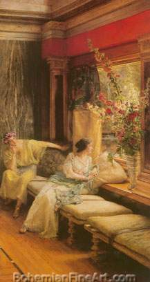 Sir Lawrence Alma-Tadema, Vain Courtship Fine Art Reproduction Oil Painting