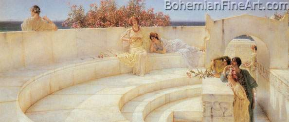 Sir Lawrence Alma-Tadema, Under the Roof of Blue Ionian Weather Fine Art Reproduction Oil Painting