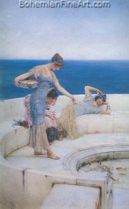 Sir Lawrence Alma-Tadema, Silver Favourites Fine Art Reproduction Oil Painting