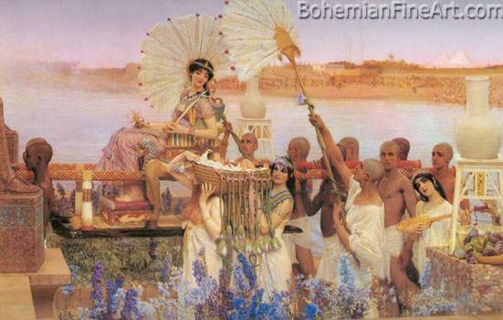 Sir Lawrence Alma-Tadema, The Finding of Moses Fine Art Reproduction Oil Painting