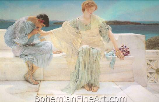 Sir Lawrence Alma-Tadema, Ask Me No More Fine Art Reproduction Oil Painting