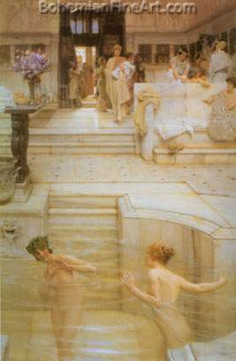 Sir Lawrence Alma-Tadema, A Favourite Custom Fine Art Reproduction Oil Painting
