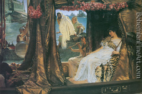 Sir Lawrence Alma-Tadema, Anthony and Cleopatra Fine Art Reproduction Oil Painting