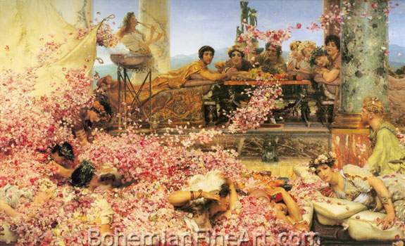 Sir Lawrence Alma-Tadema, The Roses of Heliogabalus Fine Art Reproduction Oil Painting