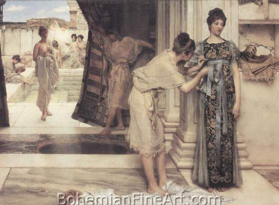 Sir Lawrence Alma-Tadema, The Frigidarium Fine Art Reproduction Oil Painting
