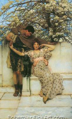 Sir Lawrence Alma-Tadema, Promise of Spring Fine Art Reproduction Oil Painting