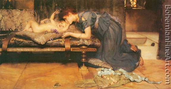Sir Lawrence Alma-Tadema, An Earthly Paradise Fine Art Reproduction Oil Painting