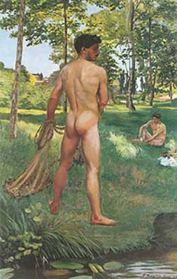 Frederic Bazille, Fisherman with a Net Fine Art Reproduction Oil Painting