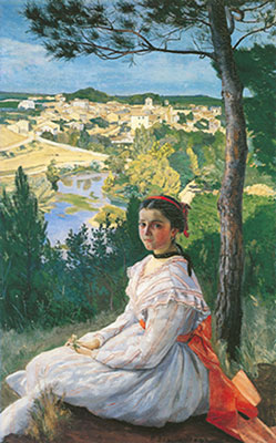 Frederic Bazille, View of the Village Fine Art Reproduction Oil Painting