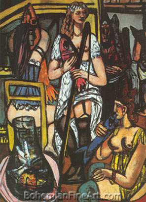 Max Beckmann, Fisherwoman Fine Art Reproduction Oil Painting