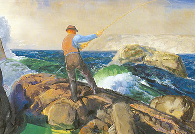 George Bellows, The Fisherman Fine Art Reproduction Oil Painting