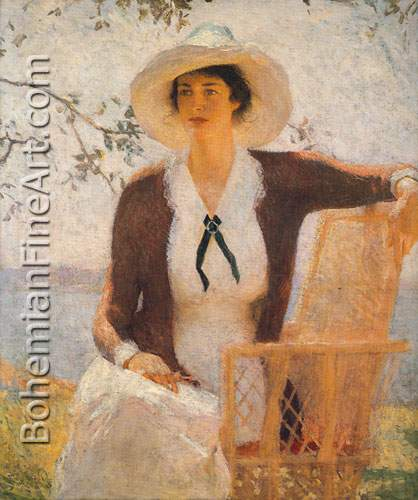 Frank W. Benson, My Daughter Elizabeth Fine Art Reproduction Oil Painting