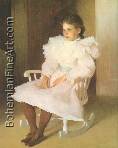 Frank W. Benson, Gertrude Fine Art Reproduction Oil Painting