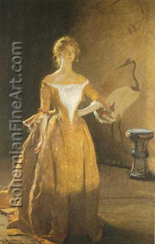 Frank W. Benson, Portrait of Mary Sullivan Fine Art Reproduction Oil Painting