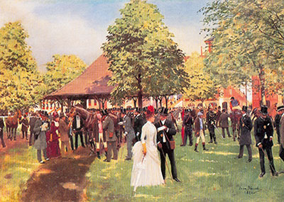 Jean Beraud, The Enclosure at Auteuil Fine Art Reproduction Oil Painting