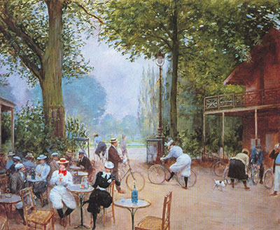 Jean Beraud, The Chalet du Cycle in the Bois de Boulogne Fine Art Reproduction Oil Painting