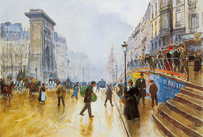 Jean Beraud, The Grands Boulevards Fine Art Reproduction Oil Painting