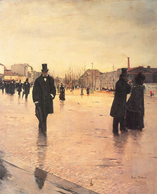 Jean Beraud, After the Funeral Fine Art Reproduction Oil Painting