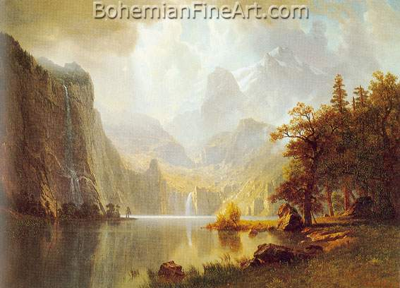 Albert Bierstadt, In the Mountains Fine Art Reproduction Oil Painting