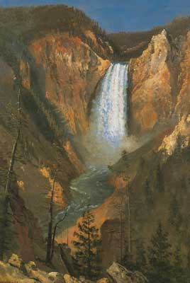 Albert Bierstadt, Lower Yellowstone Falls Fine Art Reproduction Oil Painting