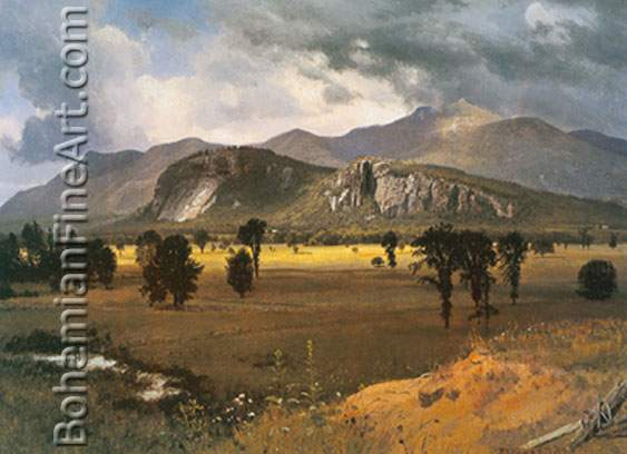 Albert Bierstadt, Moat Mountain, Intervale New Hampshire Fine Art Reproduction Oil Painting