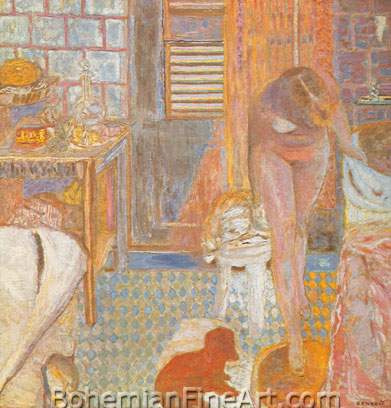 Pierre Bonnard, Nude in a Bathroom Fine Art Reproduction Oil Painting
