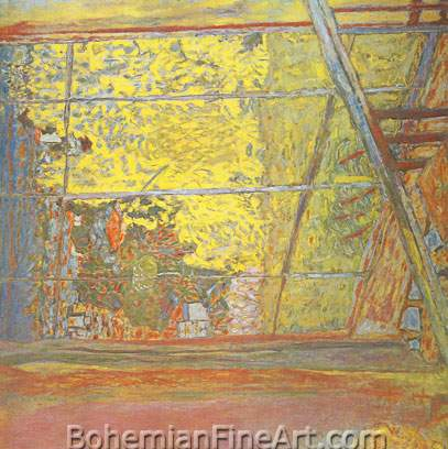 Pierre Bonnard, The Studio at Le Cannet, with Mimosa Fine Art Reproduction Oil Painting