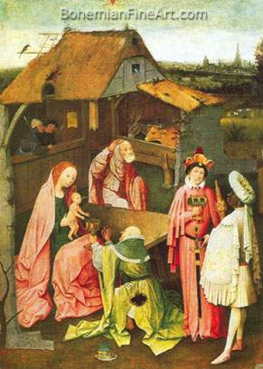 Hieronymus Bosch, The Adoration of the Magi Fine Art Reproduction Oil Painting