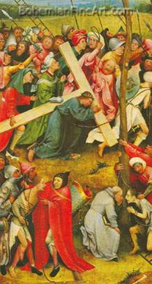 Hieronymus Bosch, The Ascent to Calvary Fine Art Reproduction Oil Painting