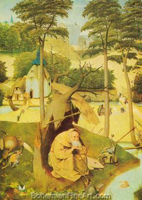 Hieronymus Bosch, The Temptation of Saint Anthony Fine Art Reproduction Oil Painting