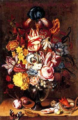 Ambrosius Bosschaert the Younger, Tulips, Peonies, Narcissi and other Flowers Fine Art Reproduction Oil Painting