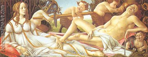 Sandro Botticelli, Venus and Mars Fine Art Reproduction Oil Painting