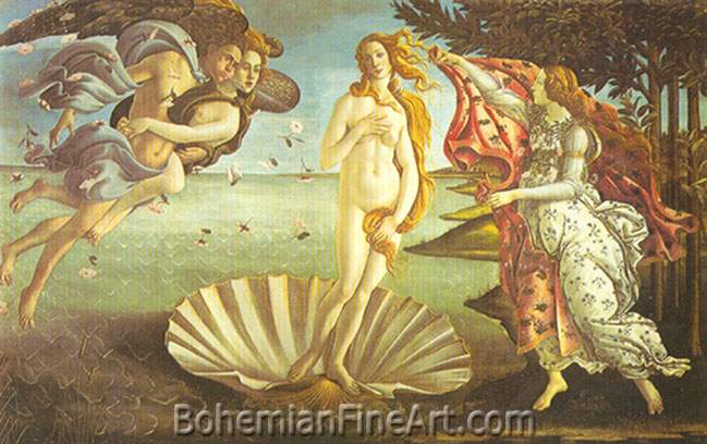 Sandro Botticelli, The Birth of Venus Fine Art Reproduction Oil Painting