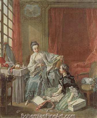 Francois Boucher, La Marchande de Modes Fine Art Reproduction Oil Painting