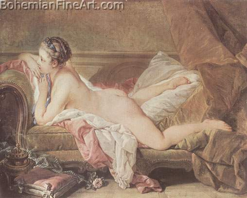Francois Boucher, Nude Girl Fine Art Reproduction Oil Painting