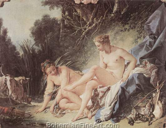 Francois Boucher, Diana after the Bath Fine Art Reproduction Oil Painting