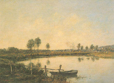 Eugene Boudin, The Water Meadows at Deauville Fine Art Reproduction Oil Painting