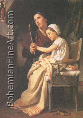 Adolphe-William Bouguereau, The Thank Offering Fine Art Reproduction Oil Painting