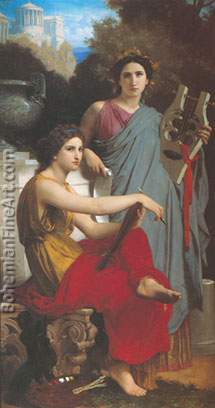 Adolphe-William Bouguereau, Art and Literature Fine Art Reproduction Oil Painting