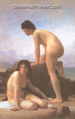Adolphe-William Bouguereau, The Bathers Fine Art Reproduction Oil Painting