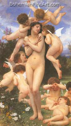 Adolphe-William Bouguereau, Printemps Fine Art Reproduction Oil Painting