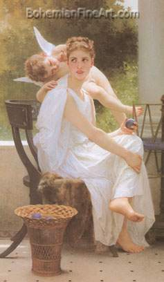 Adolphe-William Bouguereau, Work Interrupted Fine Art Reproduction Oil Painting